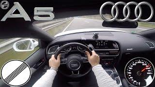 AUDI A5 Sportback 2.0 TDI 2016 POV TOP SPEED DRIVE on AUTOBAHN MAX ACCELERATION (NO SPEED LIMIT)