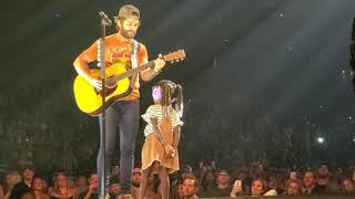 "Thomas Rhett ""to the guy's who date my girls"" with Willa gray sprint center live"