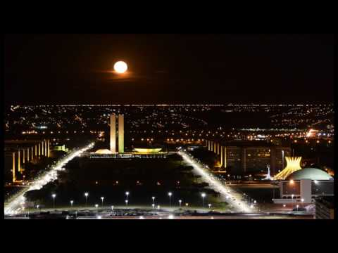 Full Moonrise from the top of TV Tower in Brasilia
