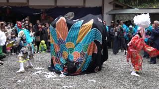【祭り】和歌山県田辺市稲成町の獅子舞