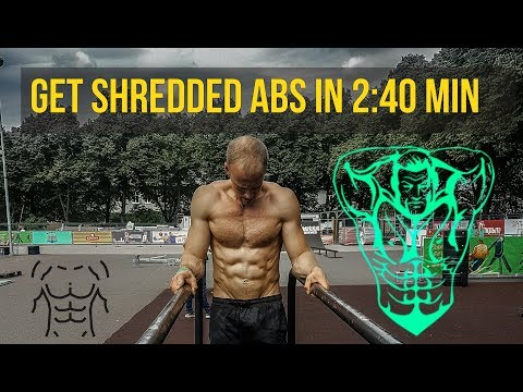 How to get a shredded six pack in 3 minutes -   ABS and CORE Workouts (It really works)