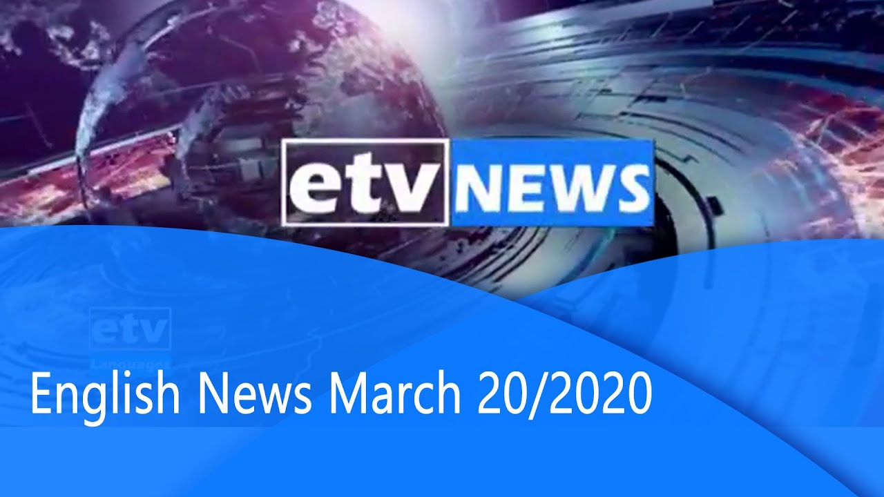 English News... March 20/2020 |etv