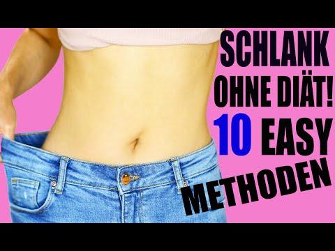 Methoden zum Abnehmen ohne Diät