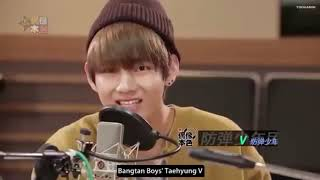 Cover images BTS V (Kim Taehyung) introducing himself in different languages.