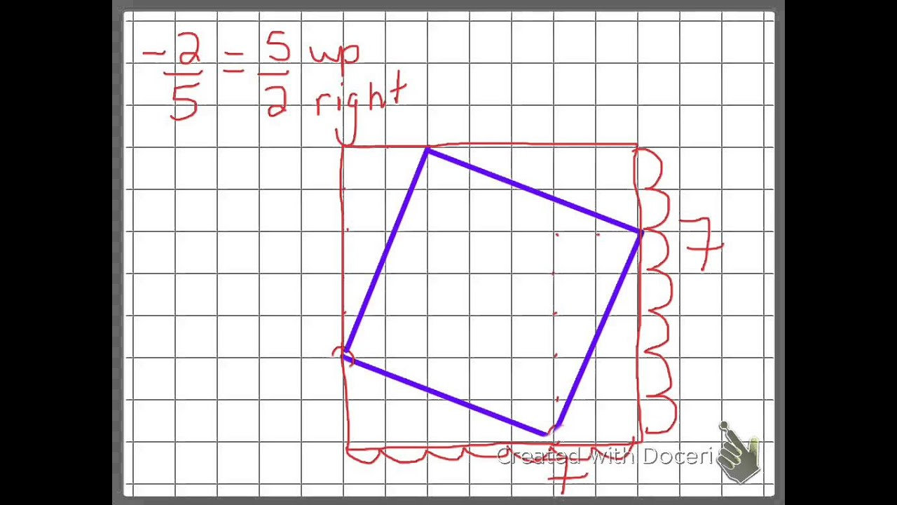 How To Use A Line Segment To Draw A Tilted Square