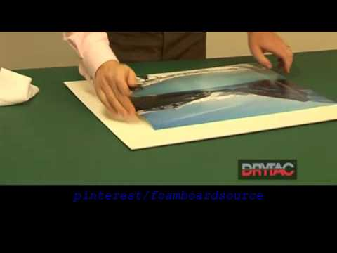 Photo & Poster Mounting using Self Adhesive Foamboard how to instructional video