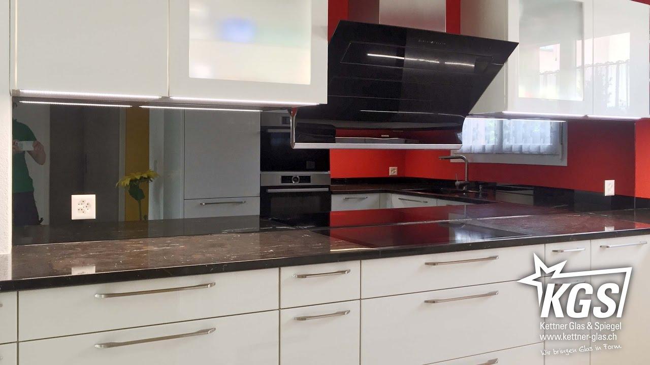 Küchenrückwand aus grauem Spiegel - YouTube