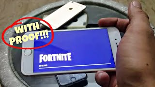 asi es fortnite en iPhone x
