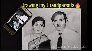 Drawing My Grandparents | Timelapse | Av Arts🤙
