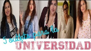 5 OUTFITS PARA IR A LA UNIVERSIDAD Thumbnail