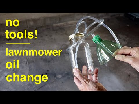 LAWNMOWER OIL Change ● the Simple Way ( no wrenches ! )