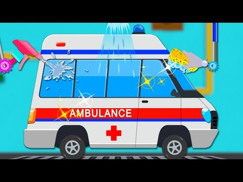ambulance-car-wash-|-car-cartoons-for-toddlers-|-street-vehicles-videos-for-children-by-kids-channel