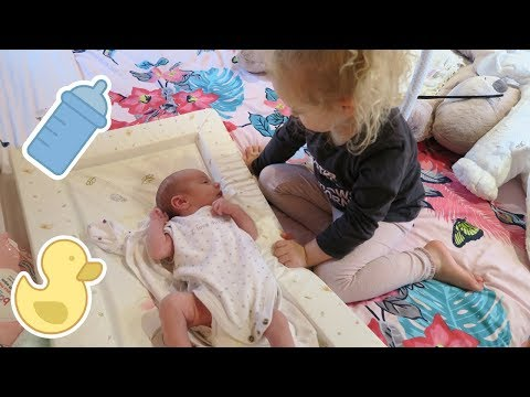 DAY IN THE LIFE WITH A NEWBORN & TODDLER! | KATIE & BABY