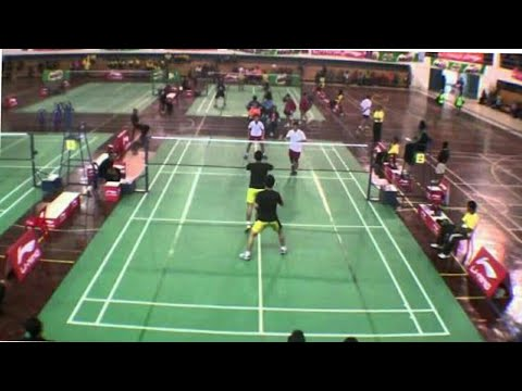Shivashankar & Febin Vs Anupak & Akshay. Semifinal match of All kerala badminton tournament kochi