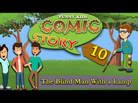 The Blind Man with a Lamp Story | Comic Story 10 | English Comics for kids | Funny Kids