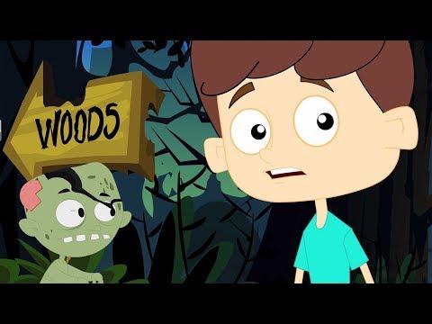 страшные леса Хэллоуин рифмы детские песни Halloween Kids Learn Songs Scary Woods Behind My House