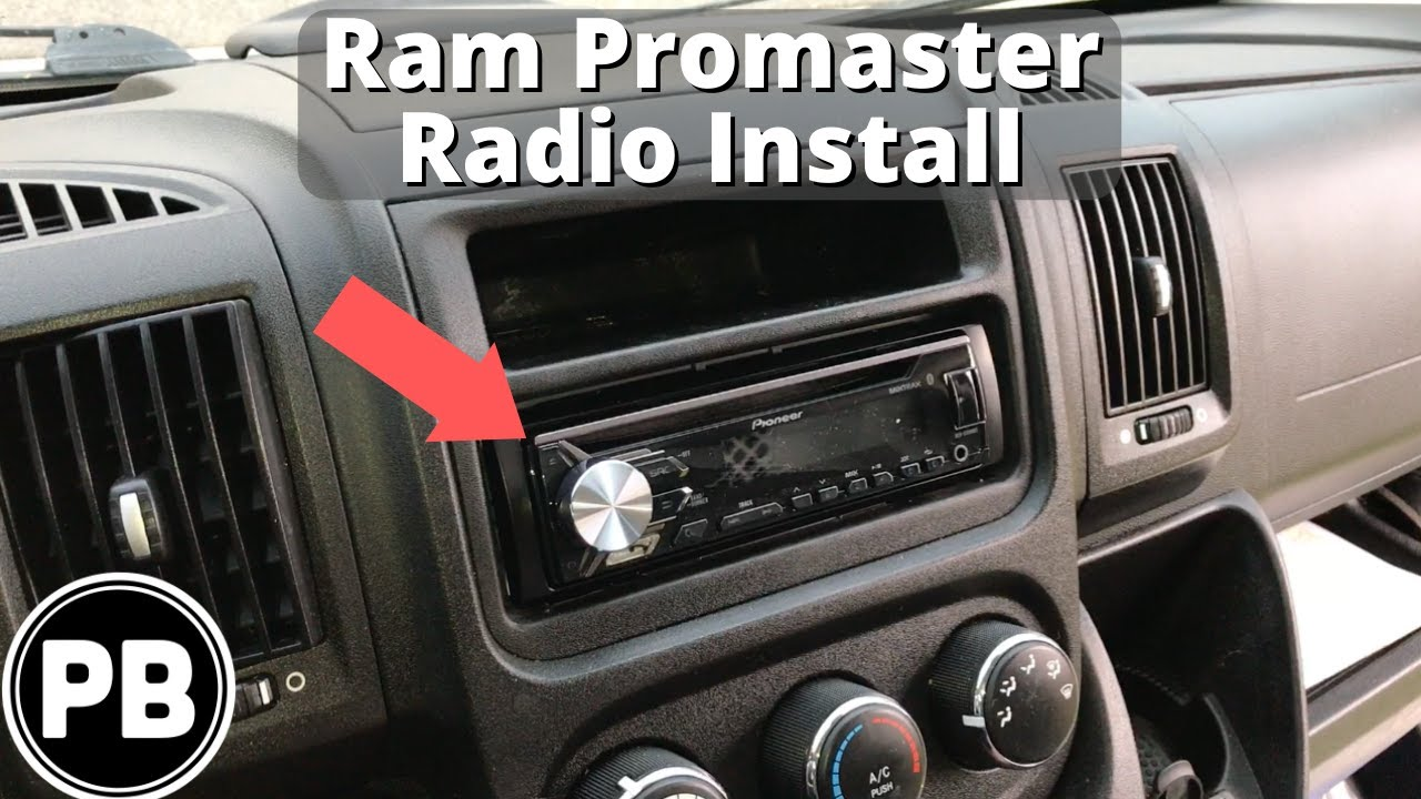 maxresdefault 2013 up ram promaster fiat ducato van stereo install youtube Ford Radio Wiring Diagram at bayanpartner.co
