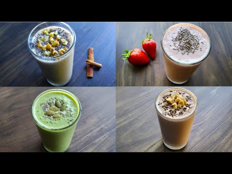 4 Healthy Breakfast Smoothie Recipes For Weight Loss | Lose Weight Fast With Healthy Diet