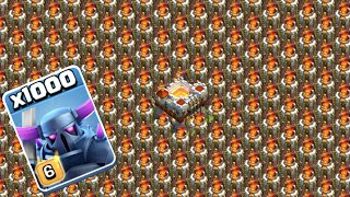 1000 Level 6 Pekka Vs Full Max Infernoes | COC PRIVATE SERVER