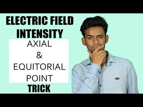 ELECTROSTATICS TRICK | 12TH PHYSICS TRICK |Electric Field Intensity at Axial and Equitorial point