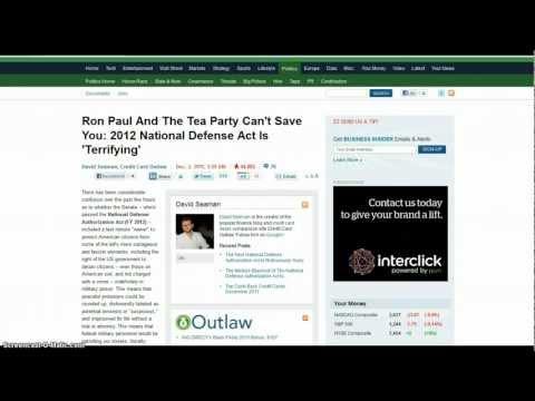 "National Defense Act S. 1867 ""Terrifying"""