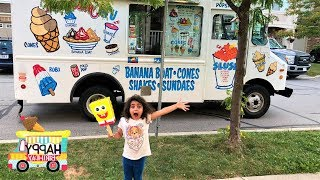 Sally Buy Ice Cream from the Ice Cream truck In Real Life!! family fun