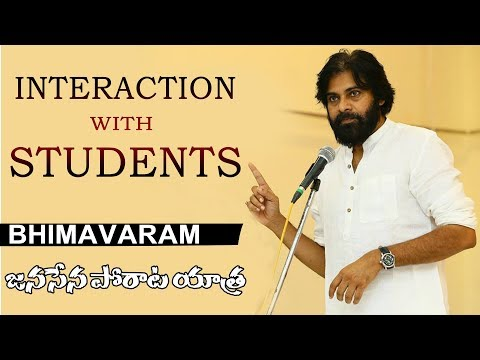 JanaSena Chief Pawan Kalyan Interction with Students | Live