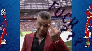 World Cup Robbie Williams give the middle finger / doigt d'honneur