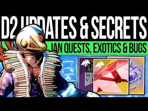 Destiny 2 | NEWS UPDATES & QUEST SECRETS! January Hotfix, Exotic Items, Quest Tips & Crimson Loot