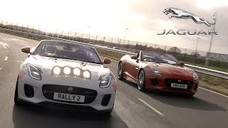 Jaguar F-Type Chequered Flag and F-Type Rally Car in Kenilworth