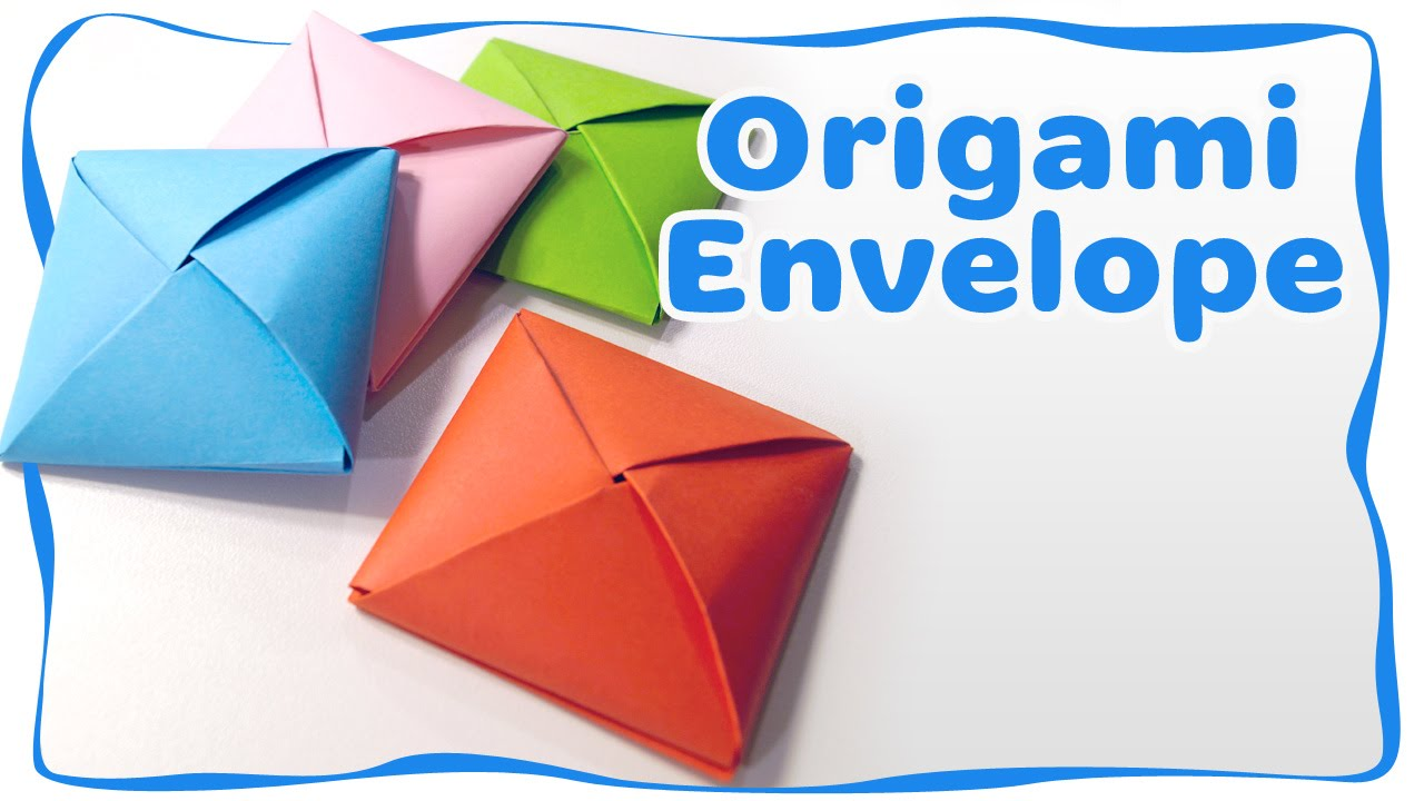 How to make an origami envelope - Ideas for gift - YouTube