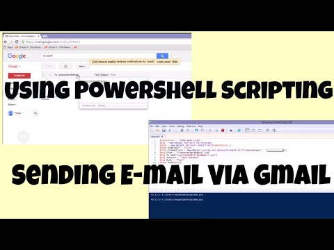 How To Send An  E-mail Using Powershell Script