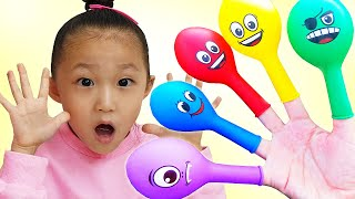 Finger Family Color Song By LoveStar / Learn Color with Balloon | Nursery rhymes & Kids song