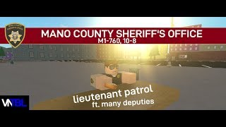 Roblox Mano County Sheriff's Office - Lieutenant Patrol (Part 2)