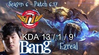 SKT T1 Bang EZREAL vs VAYNE ADC - Patch 6.17 KR Ranked | League of Legends
