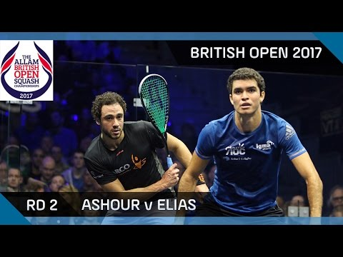 Squash: Ashour v Elias - British Open 2017 Rd 2 Highlights