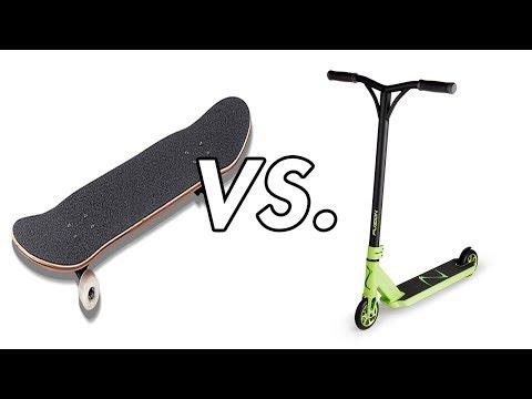 Skateboarding Vs. Scooter