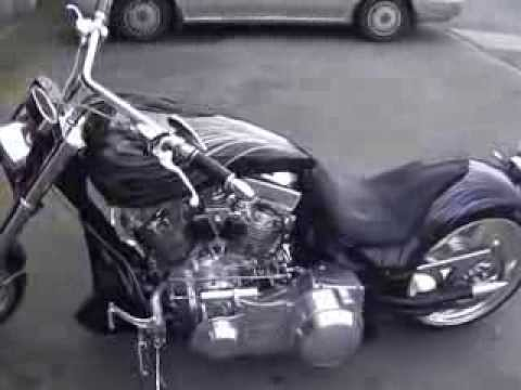harley davidson sound 166 cui magnacharger bike - YouTube