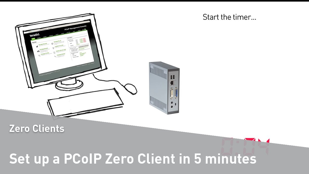 How to set up a PCoIP zero client in 5 minutes - a step by step guide