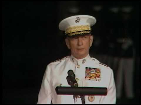 President Reagan's Remarks at the Change of Command Ceremony