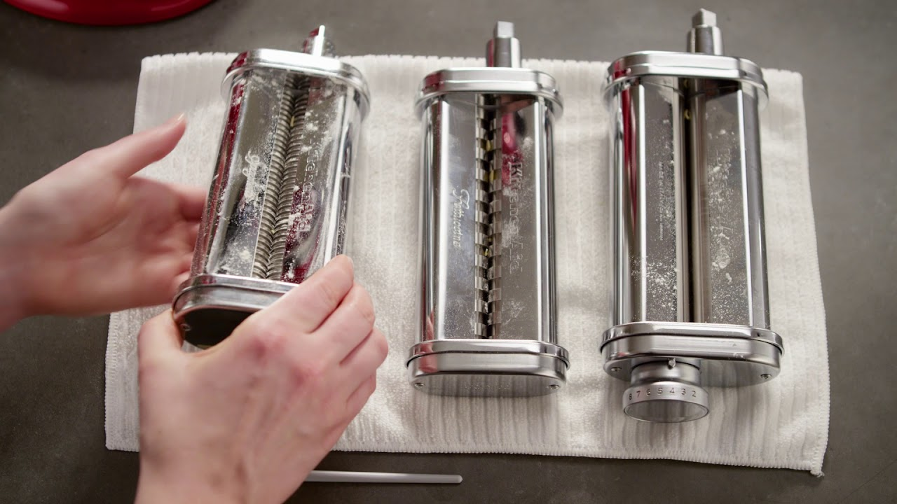 How To Clean The 3 Piece Pasta Roller And Cutter Set Kitchenaid