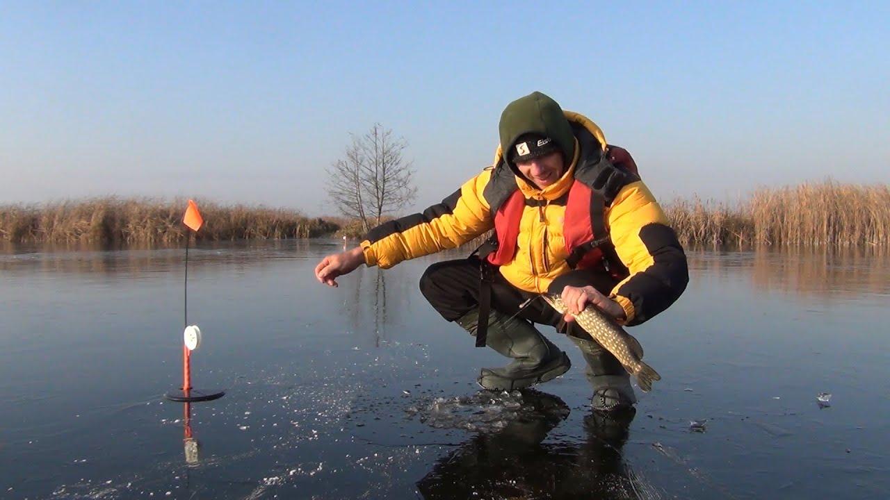 зимняя рыбалка на жерлицы видео