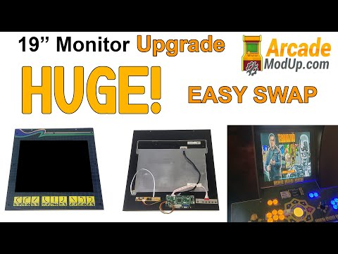 Arcade1Up 19 inch Monitor Mod   Simple Swap from ArcadeModUp