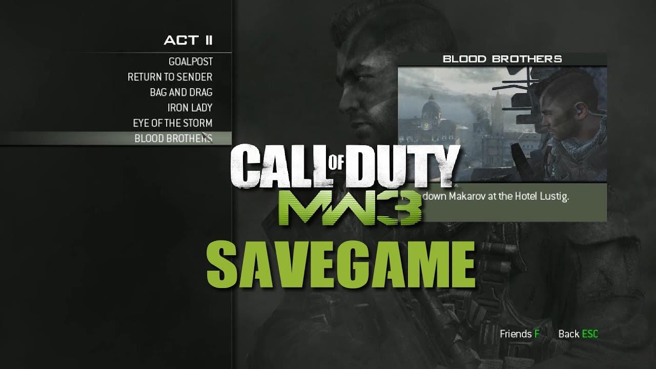 Modern Warfare 3 Save Game Dosyası – Name