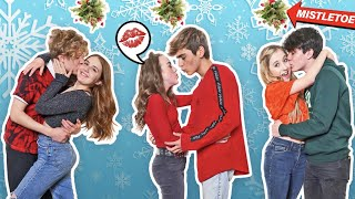 Last to Stop KISSING BOYFRIEND Under The MISTLETOE Wins **COUPLES Challenge**💋😘|Symonne Harrison