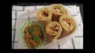 Indian Crêpe Dosaï -  How To Make Crêpes Without Eggs / Multi-purpose Batter Without Eggs