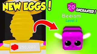 TWO *NEW* EGGS AND SHINY PET ENCHANTMENTS IN BUBBLE GUM SIMULATOR UPDATE!! (Roblox)