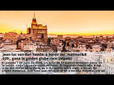 jean-luc van den heede, a bordo del 'matmut', gana la golden globe race  (elpais)