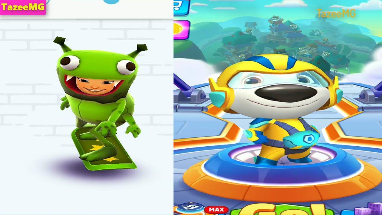 Subway Surfers VS Talking Tom Hero Dash Android Gameplay