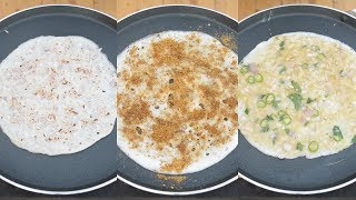 3 simple | dosa varieties | Homemade